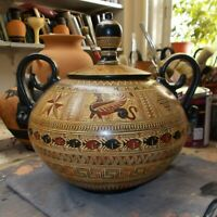 Ancient Greek Geometric Belly Amphora Vase Museum Replica Reproduction