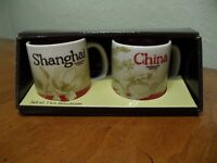 Starbucks Global Icon Demitasse Set China & Shanghai Mini Espresso Mug Set New