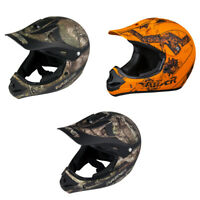 Adult OR Youth Raider Ambush Helmet MX / ATV - Mossy Oak, RealTree Xtra, Blaze