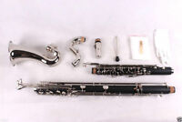 New Bass Clarinet Low c Bb key Ebonite Wood Professional Sound Free Pads Case #A