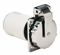 6371EL-B Marine 3-Wire Stainless Steel Locking Power Inlet with Rear Safety