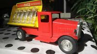 vintage toy,pressed steel Coca-Cola truck with bottles,MetalCraft,St. louis,old