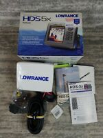 NEW! Lowrance HDS-5x Fishfinder Depthfinder With Transducer