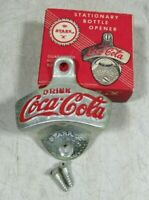 Vintage/Antique 1940's Coca-Cola Wall Mount Bottle Opener Starr X Brown NIB NOS