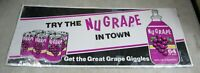 Vintage NuGrape Nu Grape Soda Pop Advertising Cardboard Display Sign