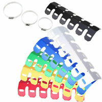 Off-road Motocross ATV Exhaust Pipe Line Guard Heat Shield+Mounting Clamps F7U4