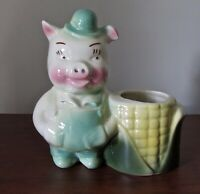 Shawnee Art Pottery Ceramic Corn Cob Pig Farmer Small Planter