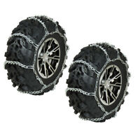REAR ATV Tire Chains Pair Polaris Sportsman 500 4x4 HO 2001 2002 2003 2004