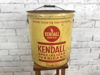Vintage Kendall Motor Oil 5 Gallon Metal Can