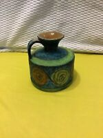 ITALY POTTERY Vintage Pitcher Italian made Multi colored textured Unique rare