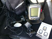 Humminbird PiranhaMAX 150 Fishfinder w/ Transducer, Cables, Battery