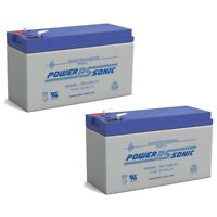 Power Sonic 12V 9AH Battery Replaces Lowrance Portable Fish finder 2 Pack