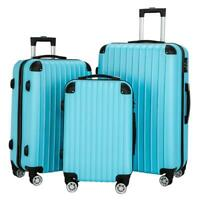 Hardside 3 x Luggage Set Travel Bag ABS Trolley Spinner Suitcase Edge Protection