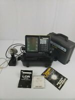 Humminbird LCR 4000 Portable Fish Depth Finder, Transducer, Bracket, Manual,Case