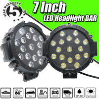 2x 425W 7inch Round LED Work Lights Offroad SUV Truck ATV Backup Driving Pods