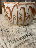 "VINTAGE ROADSIDE TOURIST POTTERY RED/WHITE 4""X4"""