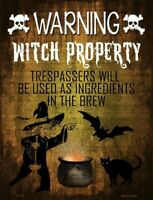 Warning Witch Property Halloween Theme Metal Sign 9