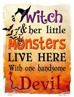 Witch Monsters Devil Halloween Theme Metal Sign 9