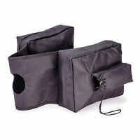 Black ATV / UTV / Motorcycle Padded Cargo Storage Tank Saddle Bag