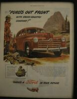 Advertising Ford V 8 Car Magazine Ford Motor Company Color
