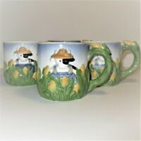 Vintage Cow in the Corn Pottery Coffee Cocoa Mug by Clay Art