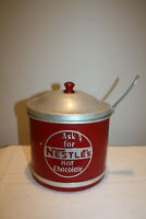 ASK FOR NESTLE'S HOT CHOCOLATE OLD STORE COUNTER ADVERTISING TIN