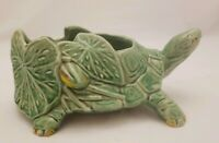 Vintage 1950's McCoy Turtle Planter Green Excellent Condition 9