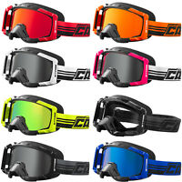 Adult Castle X STAGE Snowmobile Goggles Dual Lens Snow OTG Over The Glasses ATV