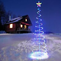 5Ft Christmas Xmas LED Spiral Tree Light Color Change Outdoor Party Decoration