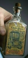 antique rare WHIZ KLEER-GLASS automobile bottle tin hollingshead