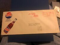 1940's, PEPSI Cola Company American energy will win addressed envelope.