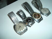Lot of Four Vintage Watches - Voumard, Tell, Mortima, Mobilia