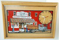 BARQ'S ROOT BEER QUARTZ WALL CLOCK GENERAL STORE BATTERY OPERATED RARE HANOVER