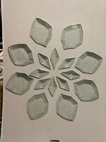 STAINED GLASS BEVEL CLUSTER -  16 Pieces New in Wrapping