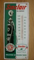 Vintage1956 Sinclair Oil Company Sinco Advertising Sign Tin Embossed Thermometer