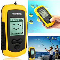 100m Fish Finder Handheld Fishfind Depth Sonar Sensor Transducer For Kayak Boat