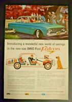 Advertising Ford Falcon 1960 Car 2 door Magazine Ad Used