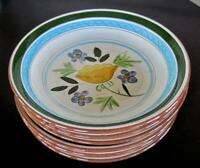 Six Stangl Pottery Country Garden 7.5