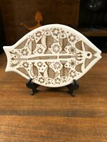 Vintage Mid Century Modern Porsgrund Norway Fish Trivet Kitchen Decor