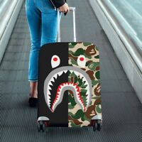 Shark Camo Travel Luggage Cover Protector Elastic Suitcase