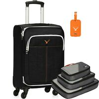 21 inch Softside Spinner Luggage Wheels Rolling Carry-On Upright Packing Cubes