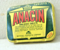 VINTAGE ANACIN 12 TABLET TIN WITH PRODUCT