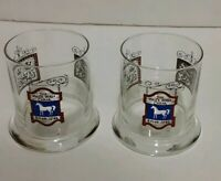Set of 2 Vintage The White Horse Horse Cellar Scotch Whiskey Glasses