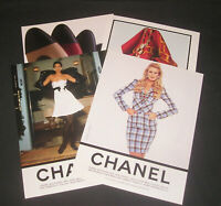 1990s Chanel Fashion, Lot of 4 Magazine Ads, Women's Clothing & Accessories