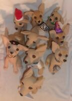 LOT OF 10 DIFFERENT TACO BELL CHIHUAHUAS MOST WITH SOUND SOME DON'T WORK