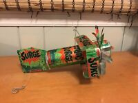 Vintage Surge Plane Airplane Made from Aluminum Cans
