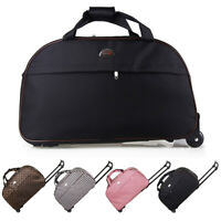 24quot; Rolling Wheeled Tote Suitcase Carry On Duffle Trolley Bag Travel Luggage