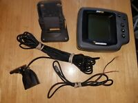 Humminbird 300TX Fish Finder Comes With Power Cord and Transducer With Temp.