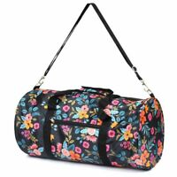 Women Marion Floral Small Duffel Gym Travel Bag Soulder Carry Bag
