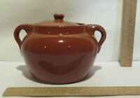 BEAN POT with LID ALBERTA POTTERIES REDCLIFF Smaller Stoneware